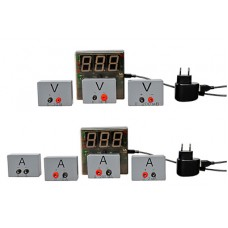 Набор датчиков силы тока и напряжения с независимой индикацией (амперметр и вольтметр дем.)