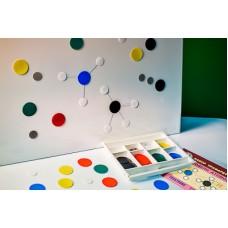 Набор трафаретов моделей атомов