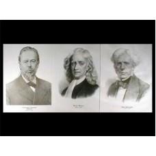 Портреты физиков (35 шт, ф А3)