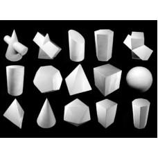 Набор гипсовых геометрических тел (15 шт.)